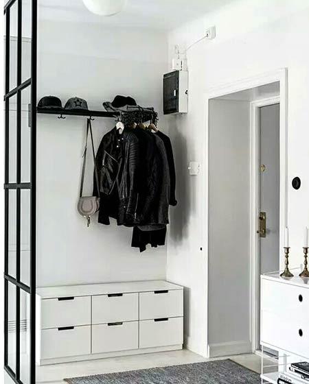 小户型门厅玄关衣帽架效果图