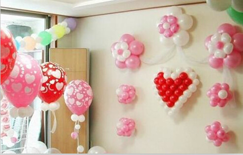 婚房气球布置效果图 婚庆气球怎么扎才好看图片
