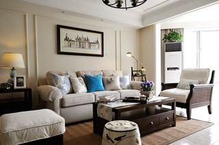 124平美式三房装修客厅效果图