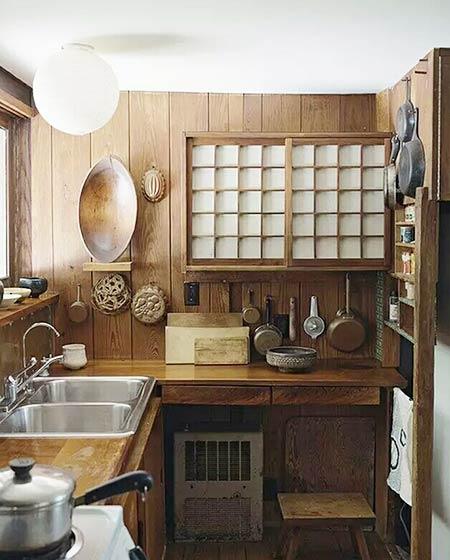 日是分割木质厨房效果图大全