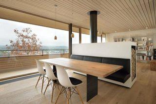 木质餐厅卡座设计平面图