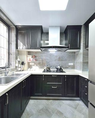 140平简约三居室厨房装修图片