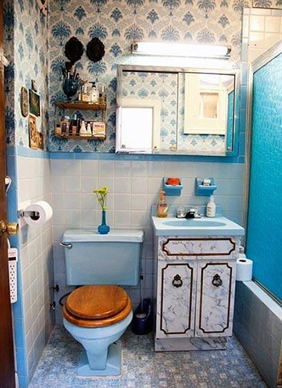 小清新浴室装修装饰效果图