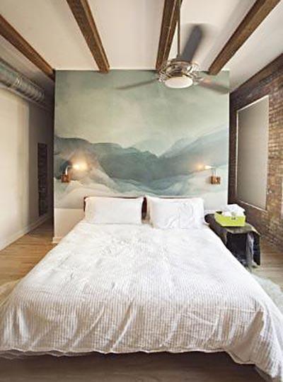 木质卧室背景墙图片_齐家网装修效果图