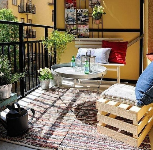 商品房阳台装修效果图 打造一款温馨舒适的休闲阳台