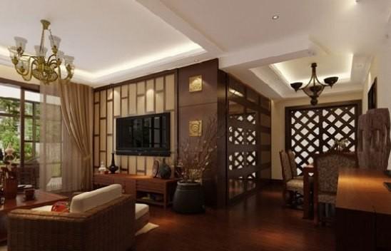 新中式电视背景墙效果图 展现古韵与现代的结合