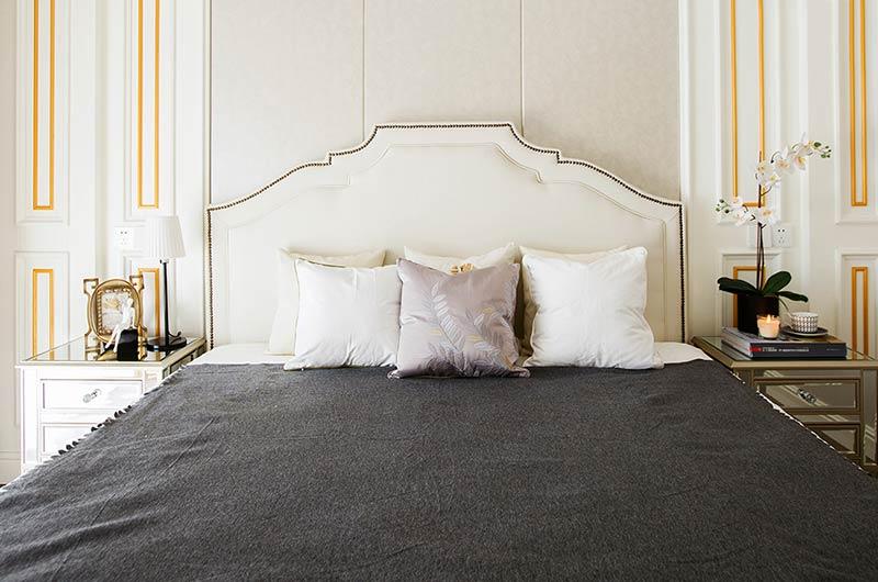 现代风格样板房主卧床头背景墙