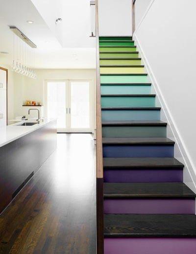 五彩楼梯布置欣赏图