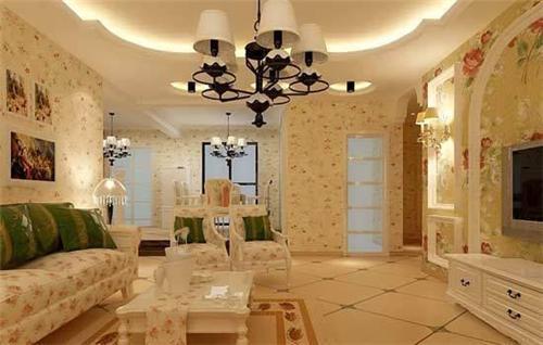 客厅欧式装修效果图 2017时尚简欧客厅装修设计图片