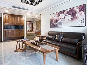 104平中式风格三居室装修 格调高雅