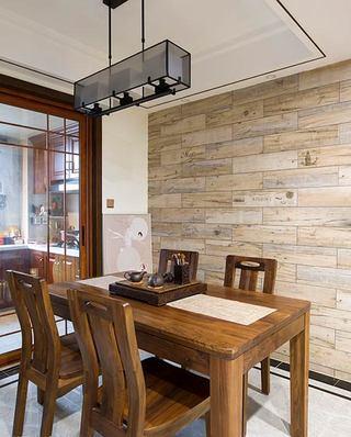 104平中式三居室餐厅效果图
