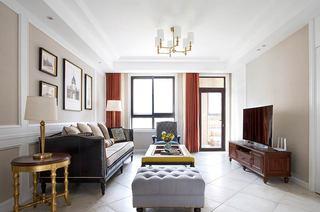 130平美式四居室客厅效果图