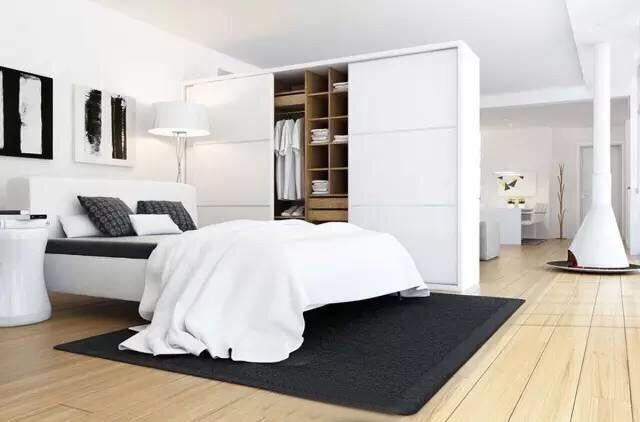 白色系卧室设计构造图