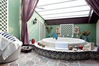 波西米亚风浴室图片