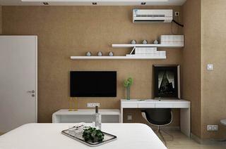 75平简约二居装修卧室电视背景墙