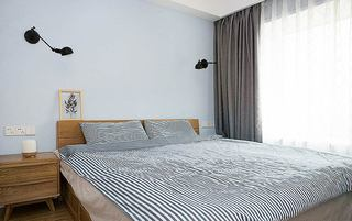 北欧风格小三室装修主卧室设计