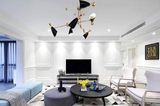 220平美式风格四居客厅灯效果图