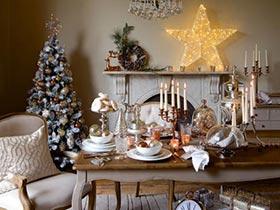 在家欢度圣诞节  10款圣诞餐厅布置图片