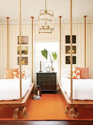 双人床设计布置图片
