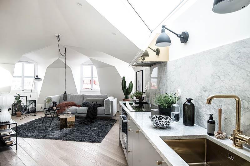 35平单身公寓装修开放式厨房装修