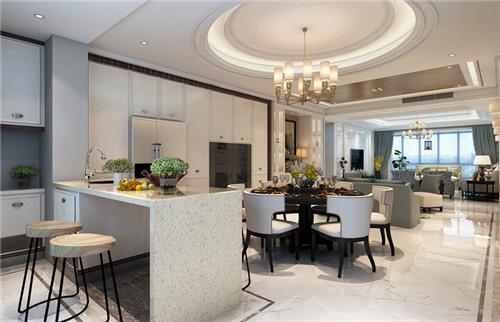 欧式饭厅装修效果图 奢华欧式风格餐厅设计方案