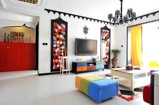 地中海风格120平米三居室效果图