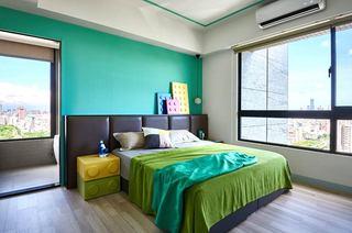 混搭风格两居室装修卧室效果图