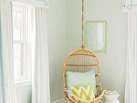 卧室清流  10款卧室吊椅设计图片