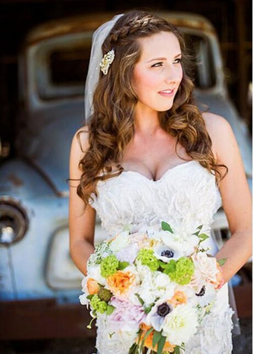 圆脸新娘适合什么发型 如何根据脸型选择发型图片