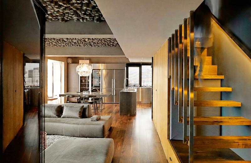 160平复式楼装修楼梯设计装修