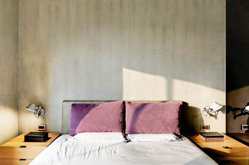 160平复式楼装修卧室背景墙