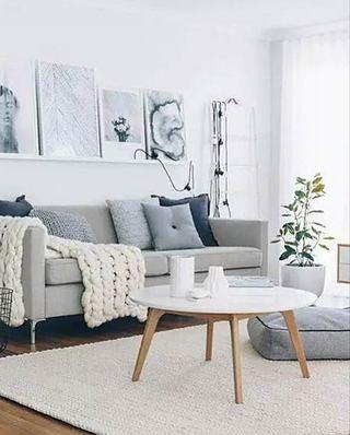 北欧风格装修客厅茶几设计图