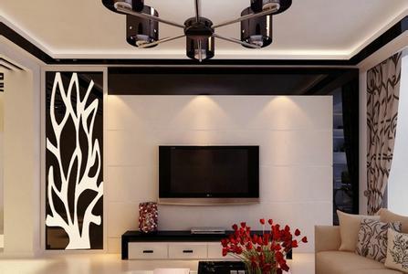 现代简约电视背景墙效果图 简单大方的电视墙造型