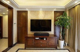 90㎡美式四居室电视背景墙图