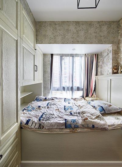 美式卧室榻榻米效果图