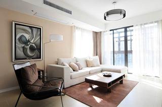 120平简约三居客厅装修效果图