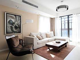 120平现代简约风格三居室装修 大道至简