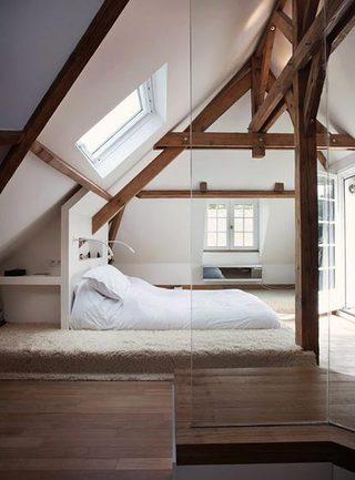 简约卧室布置实景图