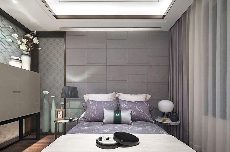 简约风格样板间卧室床头设计