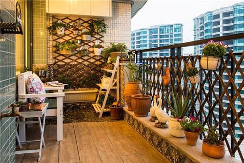 阳台地砖效果图 打造阳台中超美的脚下风景