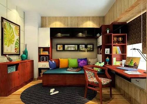 书房装修设计效果图 小书房装修与榻榻米更配哦