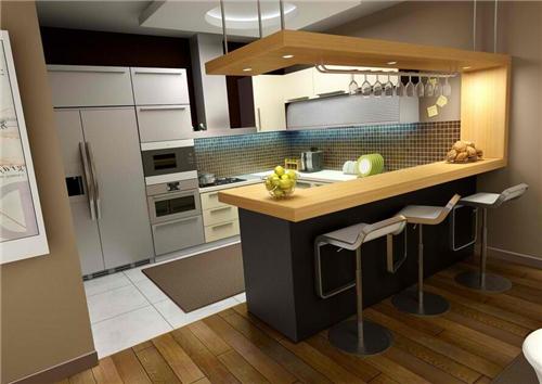 开放式厨房吧台装修效果图 别出心裁的厨房吧台设计