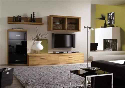 电视柜设计效果图 现代简约客厅电视柜设计图片