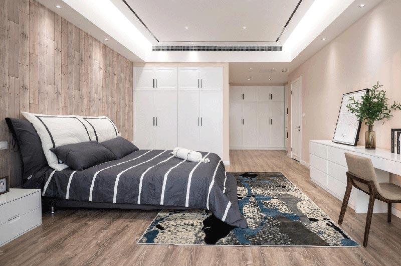 209平简约三居卧室衣柜图片