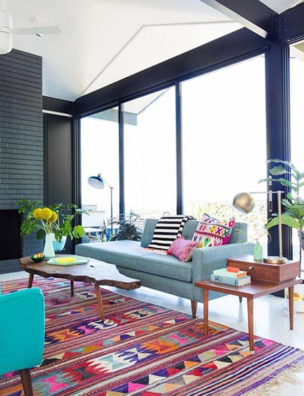 客厅色彩搭配布置参考图