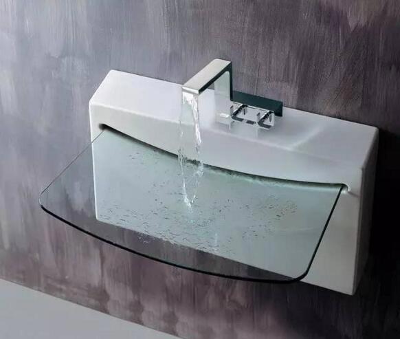 创意玻璃洗手池装修图片
