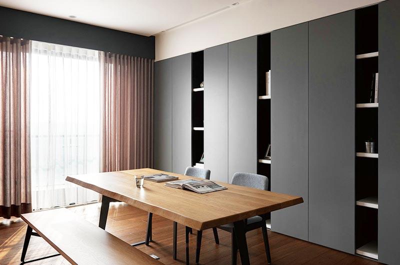 简约风格三房二厅装修书柜设计图
