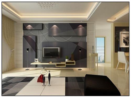 2017客厅电视背景墙装修效果图大全欣赏