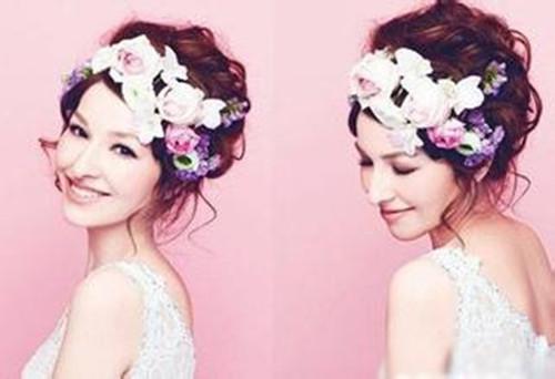 韩式婚纱照新娘发型装扮 如何打造迷人的新娘发型图片