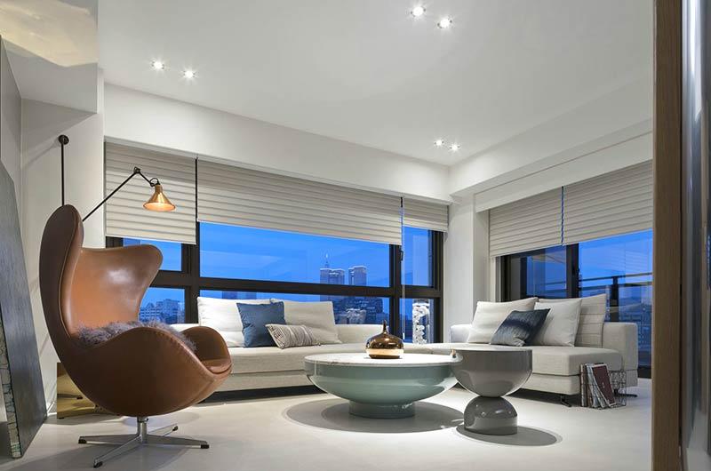 简约风格公寓装修客厅设计图